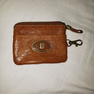 Fossil card/ coin beige wallet